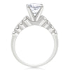 7 Stone Floating U Shared Prong Engagement Ring