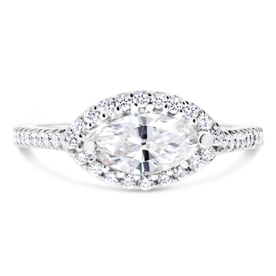 Modern Marquise Halo Engagement Ring