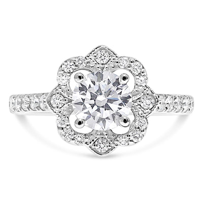 Open Bud Engagement Ring