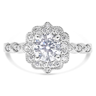 Modern Deco Engagement Ring