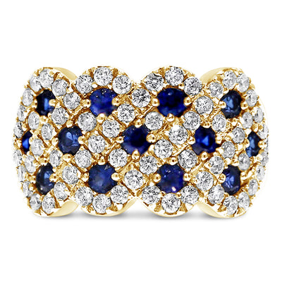 Sapphire Weave Ring