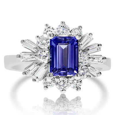 Tanzanite Burst Ring