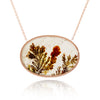 Dendritic Agate Stationed Pendant Necklace