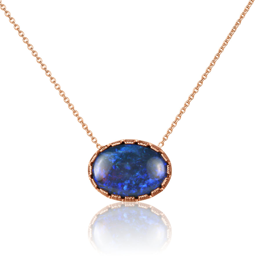 Opal Stationed Pendant Necklace