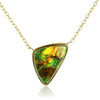 Ammolite Stationed Pendant Necklace