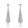 Pave Necktie Drop Earrings