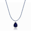 Tanzanite Pendant Necklace with Sapphire Chain