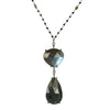 Labradorite and Diamond Pendant Necklace