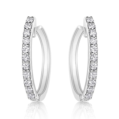 Diamond Hoops with Removable Diamond Dropsticks