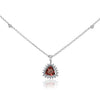 Rhodalite Garnet Pendant Necklace