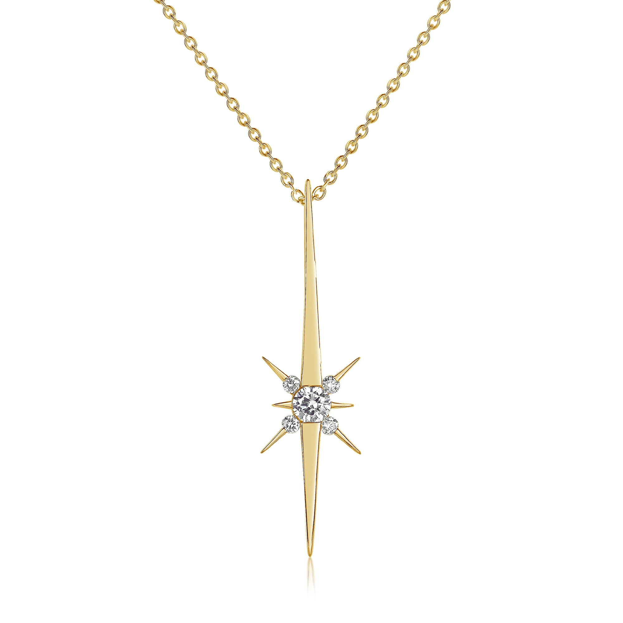 large productzoom north pendant necklaces cachet crystal star gold pink swarovski