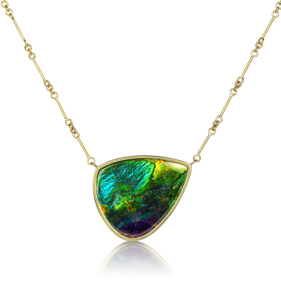 Ammolite Stationary Pendant Pendant Necklace