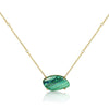 Stationary Azurite Malachite Pendant Necklace