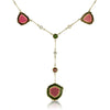 Watermelon Tourmaline Y Necklace