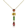 Multi-Color Tourmaline Drop Necklace