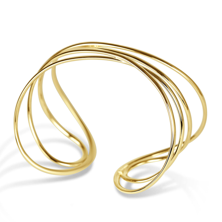 Gold Lines Cuff