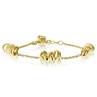 Gold Scribble Stations Bracelet