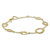 Gold Open Free Form Bracelet