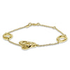 Gold Mod Center Linked Ovals Bracelet