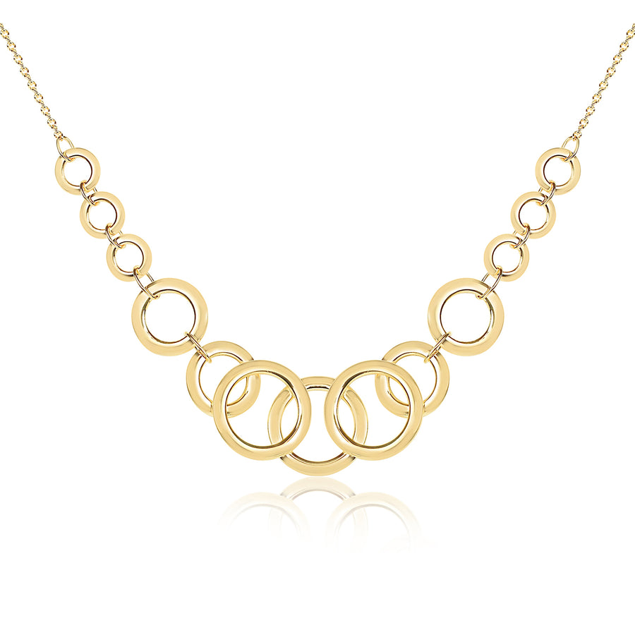 Circle Link Statement Necklace