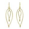 Gold Meta Loop Drop Earrings