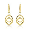 Gold Square Link Drop Earrings