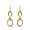 Gold  Graduated Open Free-Form Drop Earrings