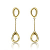 Gold Open Free-Form Drop Earrings