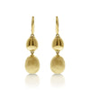 Gold Mixed Texture Bead Drop Earrings