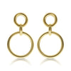 Gold Bubbles Drop Earrings