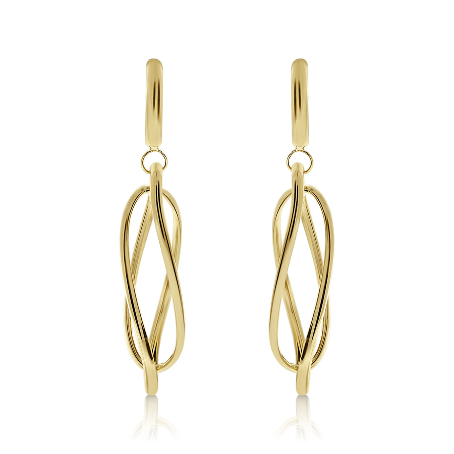 Gold Suspended Loops Drop Earrings