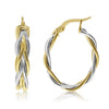 Gold Two-Tone Braided Hoops