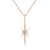 North Star Pendant with Cable Chain