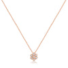 Fluted Bezel Flower Cluster Pendant with Cable Chain