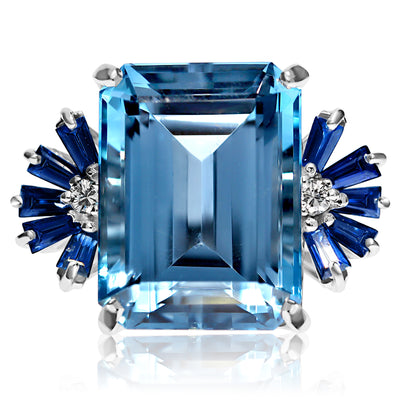 Cocktail Blues Ring
