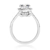 Rounded Square Split-Shank Halo Engagement Ring - 1 CTW Center