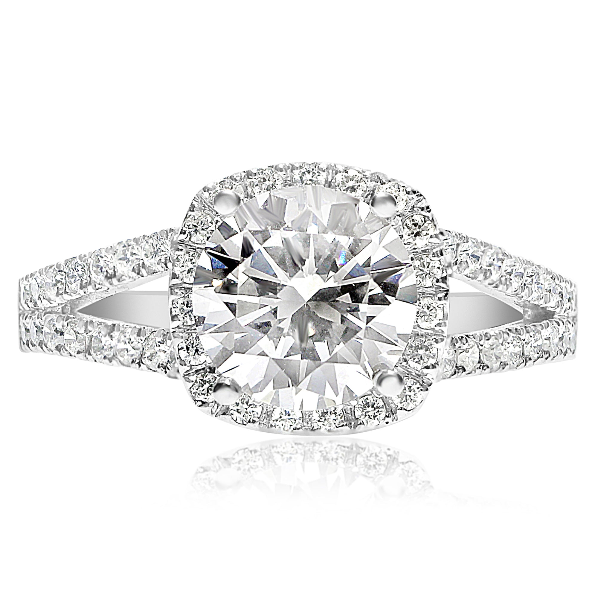 universe diamond my forevermark center ring halo rounded with of round image