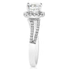 Halo With Wavy Split Shank Engagement Ring