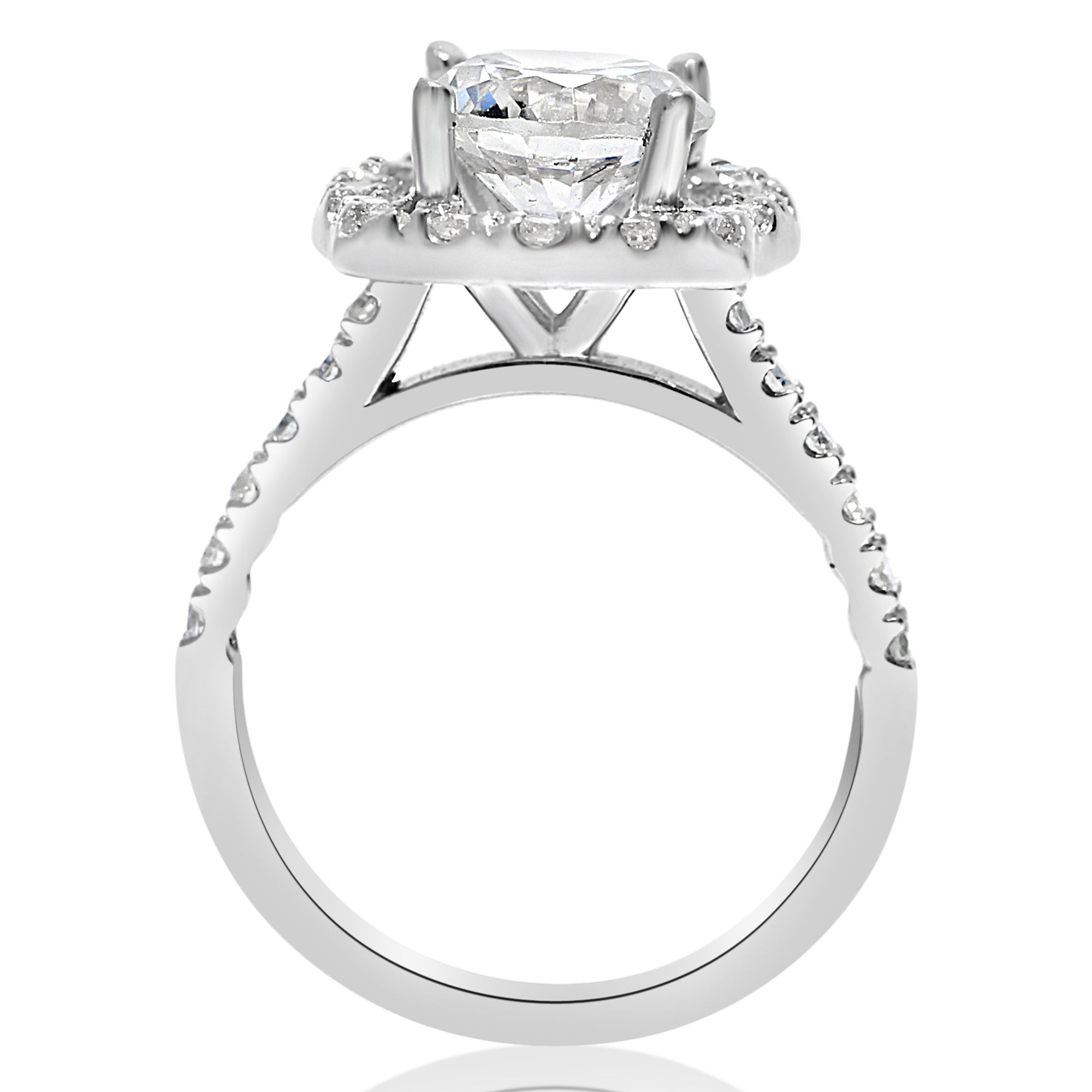 halo a ring of princess square double engagement diamond platinum rings brilliant love point cut carat products