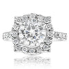 Pointed Halo Engagement Ring - 2 CTW Center