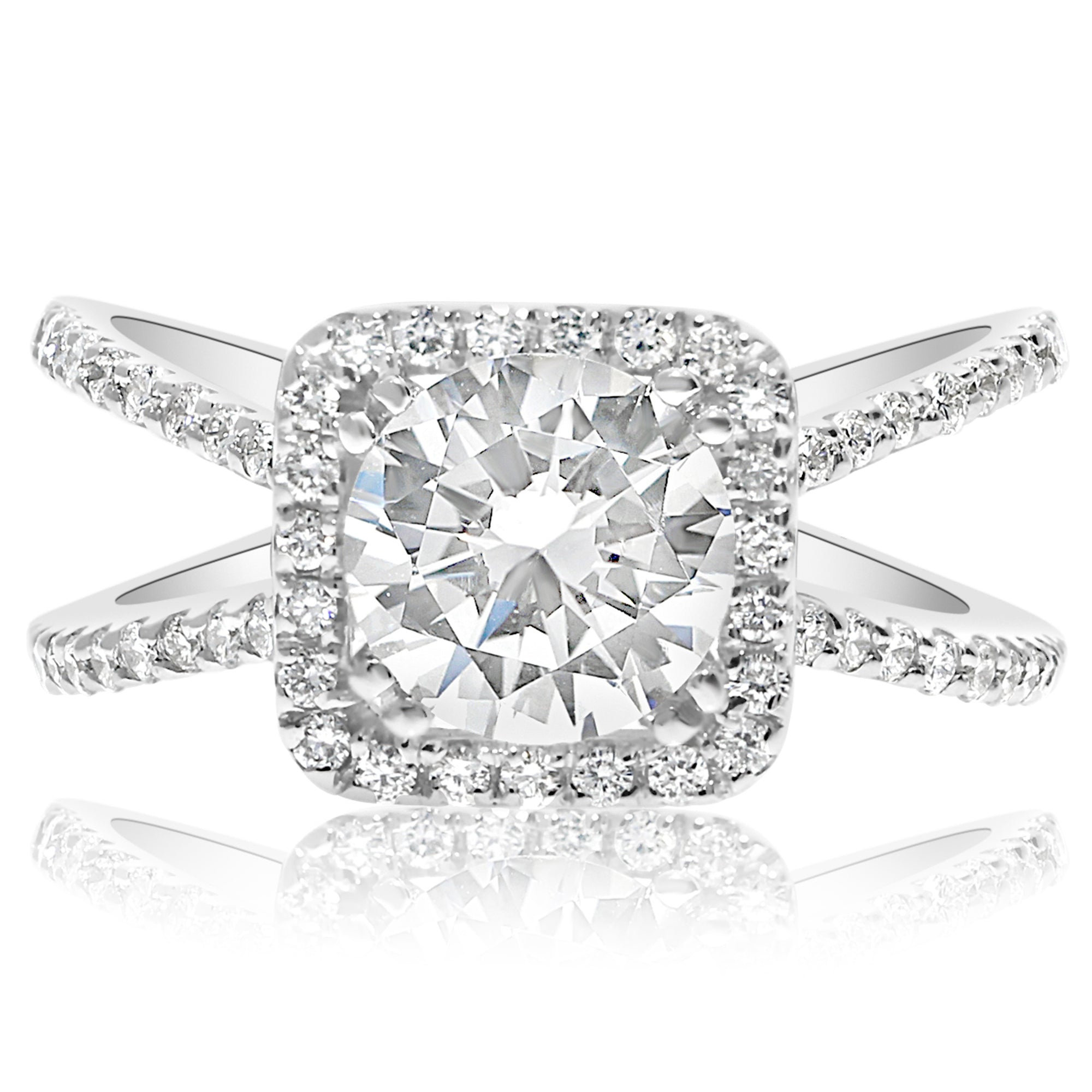 style diamond rounded gold prongs band half with cut product rose eternity in brilliant wedding