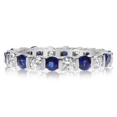 Bar Set Band -Sapphires and Diamonds