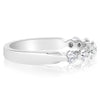 7 Stone Single Prong Bridal Set - 0.10 Carat Diamonds