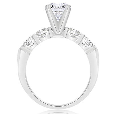5 Stone Single Prong Engagement Ring - 0.15 Carat Diamonds
