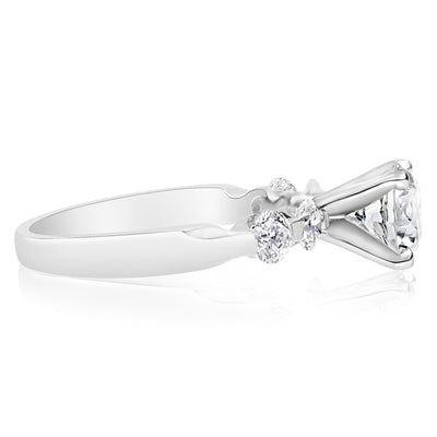 5 Stone Single Prong Bridal Set - 0.15 Carat Diamonds
