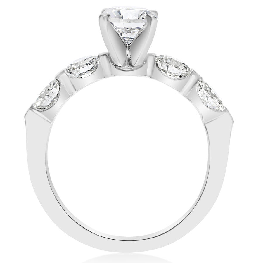 5 Stone Single Prong Engagement Ring - 0.25 Carat Diamonds