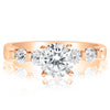 5 Stone Single Prong Engagement Ring - 0.10 Carat Diamonds