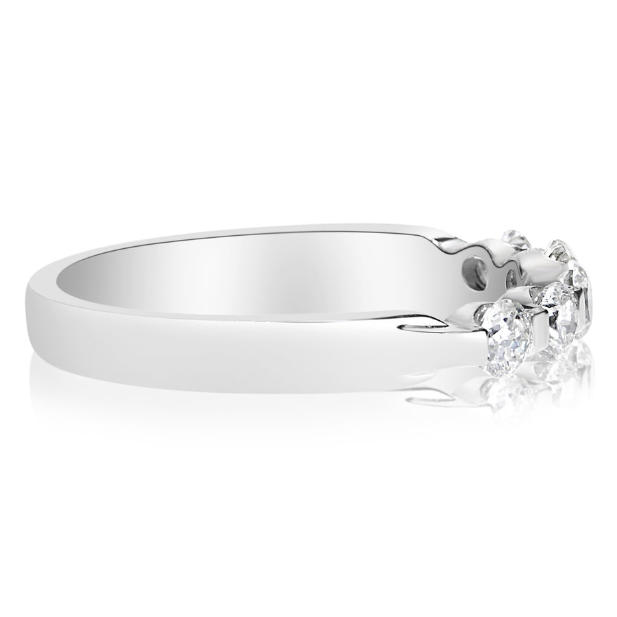 5 Stone Single Prong Band - 0.10 Carat Diamonds