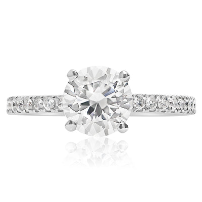 Skinny 4-Prong Engagement Ring - 1.7mm