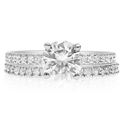 Skinny 4-Prong Bridal Set - 1.7mm